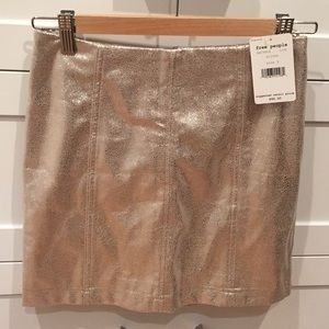 Free people soft faux leather skirt.